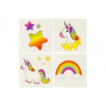 288er Set Kinder Tattoo Einhorn Unicorn 4 fach sortiert VE1