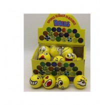 Lustige gelbe Stressbälle Knautschball VE24