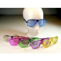 Rave Partybrille Shutter Shades Atzenbrille Atzen Brille Nerdbrillen bunt  VE24