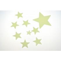 Packung mit 40 Leuchtsternen Sterne leuchten im Dunkeln   VE 6