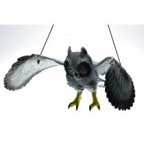 Vogelschreck 56 cm ! Taubenschreck Taubenabwehr Eule Vogelscheuche Vogelabwehr   VE1