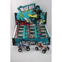Quad mit Rückzug 10,5 cm in Klarsichtbox Spielzeugauto Spielzeugquad Modellquad  VE12