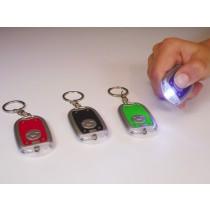Taschenlampe LED Schlüsselanhänger Vorm 6cm bunt VE48