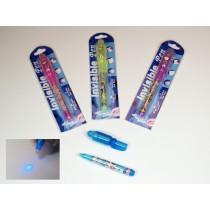UV-Geheimstifte UV Licht Lampe Geheimstift Zauberstift mit Lampe Spickzettel VE12