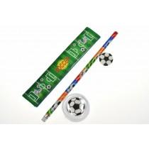 Schreibset Fußball Lineal Bleistift Spitzer  VE12