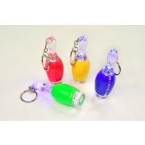 Bowling Pins LED 7cm Schlüsselanhänger Kegeln Taschenlampe VE48