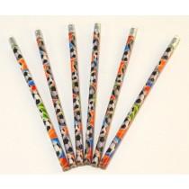 Bleistifte mit bunten Fußbällen bedruckt  VE144