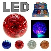 LED-Flummi ''Disco Springball'' 65mm Ø, versch. Farben …  VE12