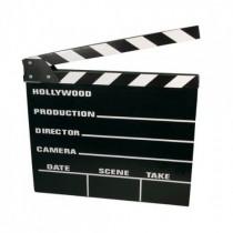 Holz Regieklappe, 18 x 20 cm, Hollywood Filmdeko, Filmklappe VE6