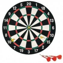Dartscheibe 43 cm inkl. 6 Dartpfeile Dartboard Dartset Wurfspiel Steeldart   VE1