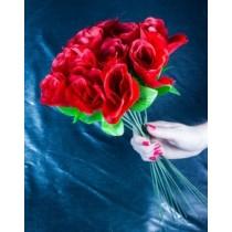 Kunstblume Velourrose Rose Rosen Blume rot 40cm VE120