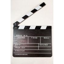 Filmklappe TV-Klappe Regieklappe 30 x 26 cm Film Klappe Regie Klappe VE6