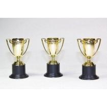 Kunststoff Pokal Sieger Trophäe Sieger Pokale gold 10 cm  VE12