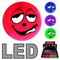 LED Ball Funny Angry Faces Leuchtball Blinkball Flummi Flummis   VE 12